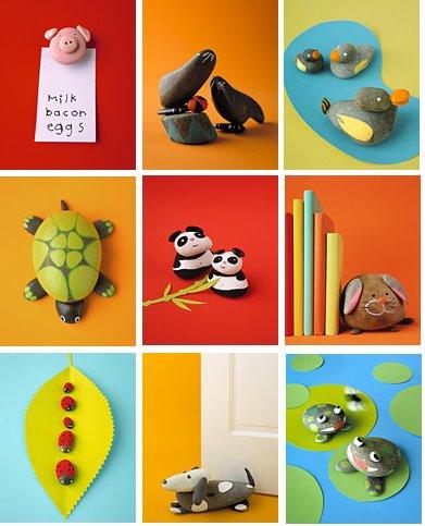 Ideas para el verano decorar y crear con piedras decopeques - Piedras para decorar ...