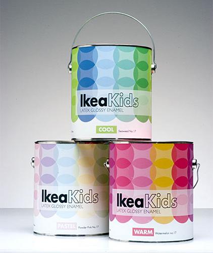 Pintura para habitaciones de niños de Ikea