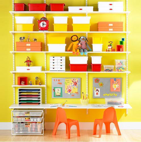 Sistemas de almacenaje para habitaciones infantiles