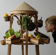 Mi puesto de verduras y frutas tropicales
