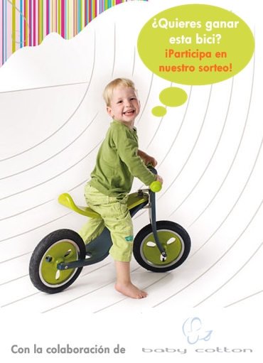 Sorteo Baby Cotton ¡una bici de Hoppop!