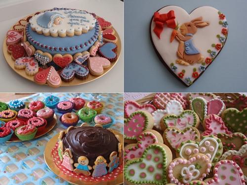 """Tartas y galletas """"muy dulce"""". ¡Que bonitas!"""