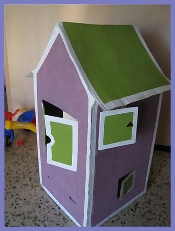 Diy: Como hacer una casita infantil de cartón con una caja