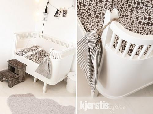 Dormitorio para bebé estilo nórdico
