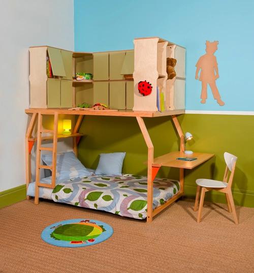 Dormitorios infantiles «Popspace» por Matali Crasset