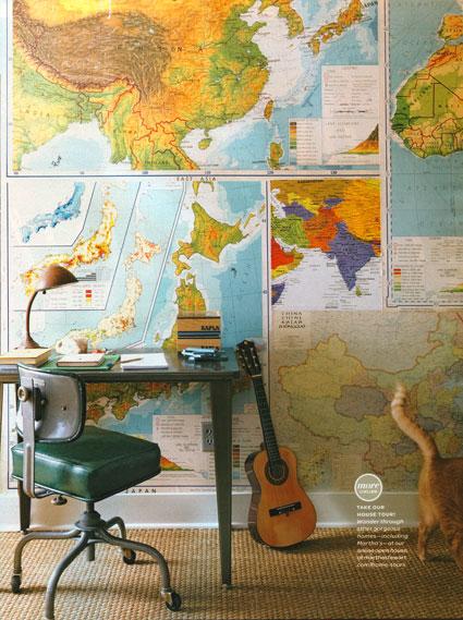 Ambientes que inspiran: Mapas vintage