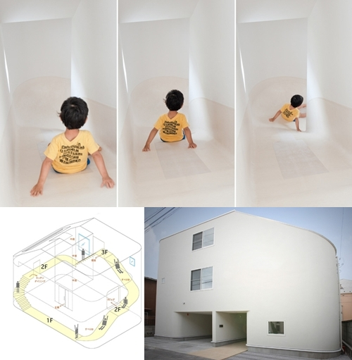 Casa con tobogán … por Level Architects