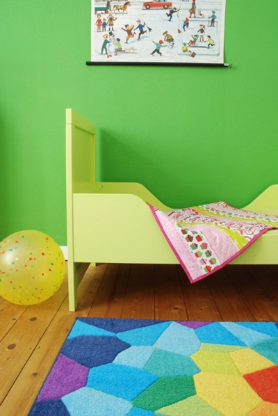 Dormitorio infantil en verde