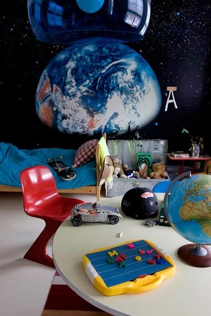 Habitación infantil intergaláctica