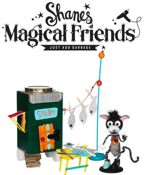 Un mundo de juguetes reciclados con Shane y Panduro.