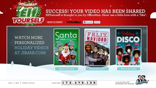 Elf Yourself, Vídeos para felicitar la Navidad de forma divertida.