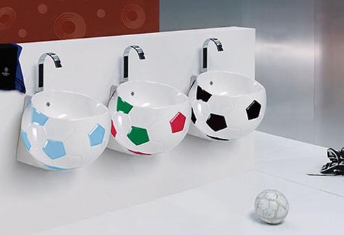 Lavabos para muy futboleros
