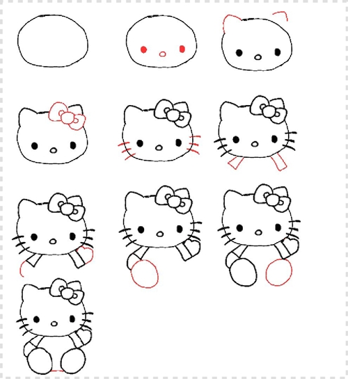 Como dibujar a Hello Kitty