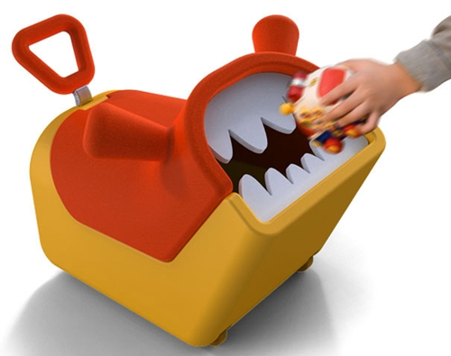 El Monstruo del orden almacena los juguetes