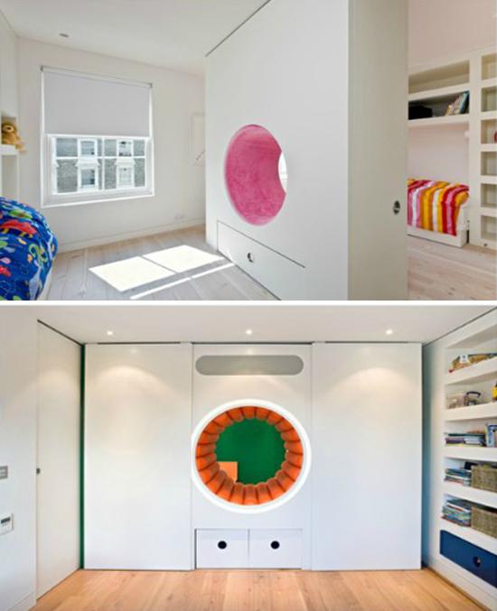 Diseño para niños: Pasadizos o Rincones de Lectura