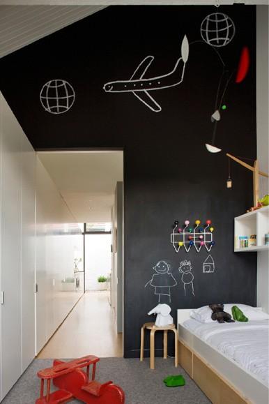 Paredes Con Pintura De Pizarra Para Habitaciones De Niños