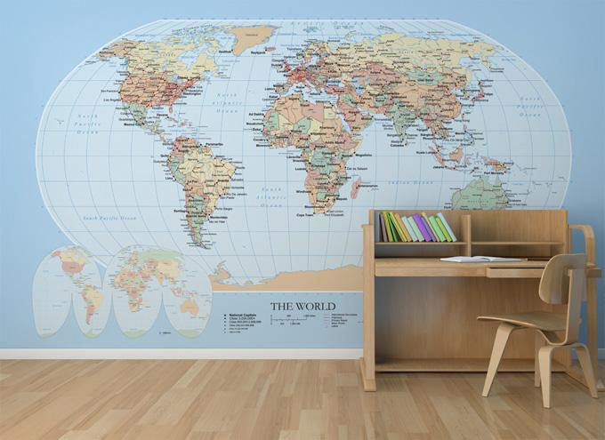 Clic clac foto…Murales infantiles con mapas