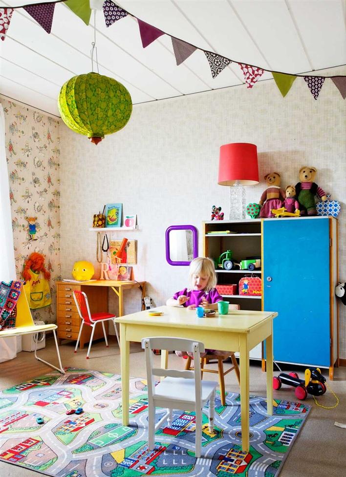 Habitación para niños a tope de color