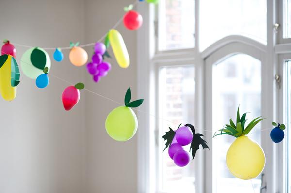 Globos Fruta para fiestas infantiles muy «sanas»