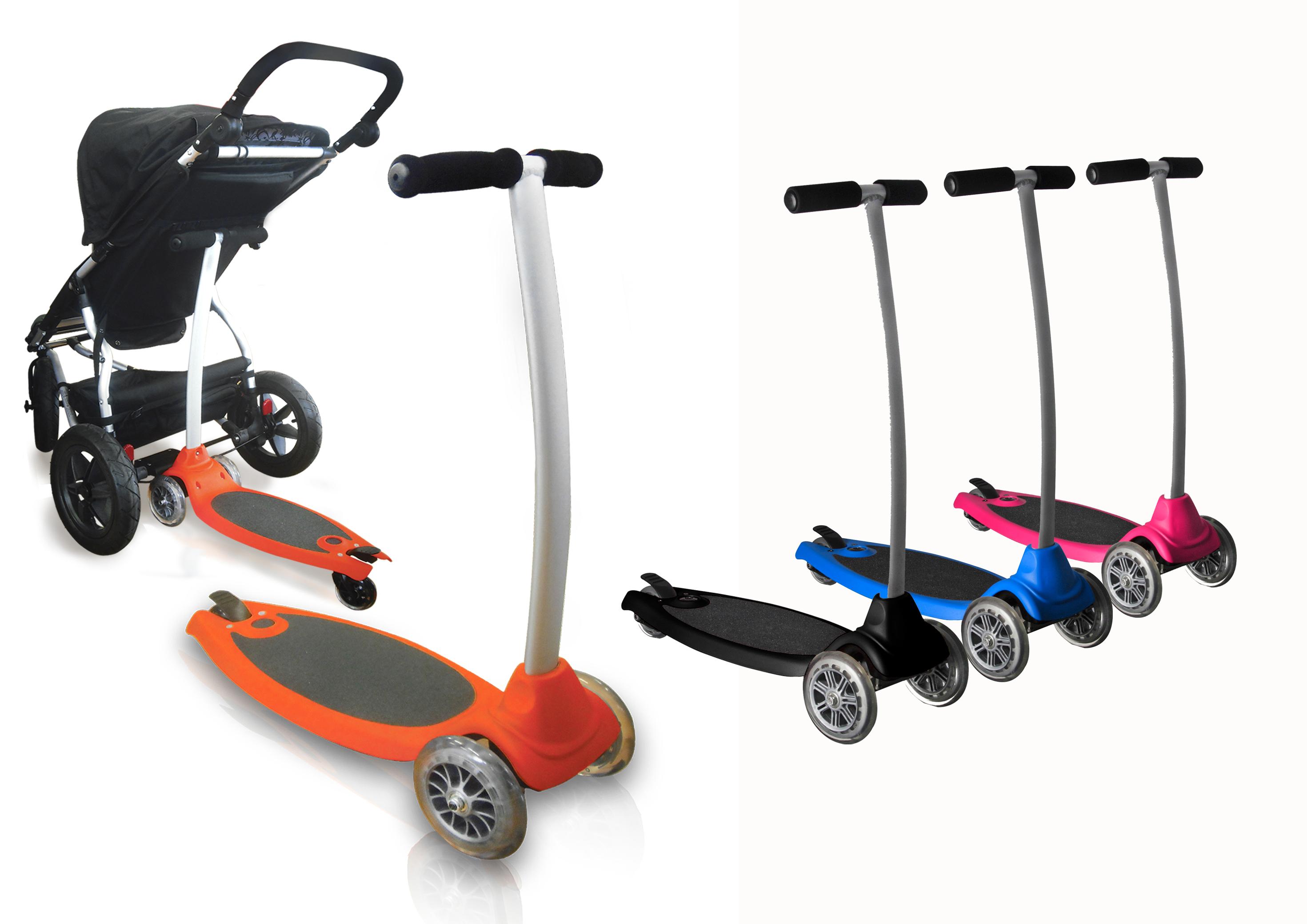 Plataforma de cochecito convertible en patinete