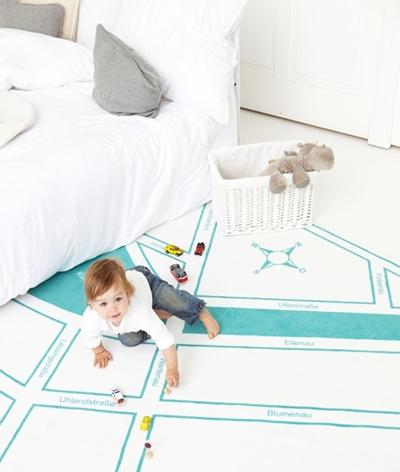 El plano de tu ciudad en la Alfombra de los niños