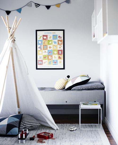 Una habitación infantil en Finlandia