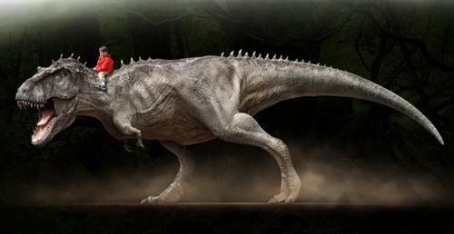Dinoprints, la lámina de tu peque montando en dinosaurio