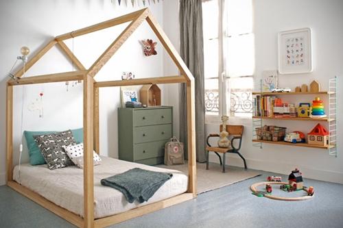 Una cabaña en la habitación infantil