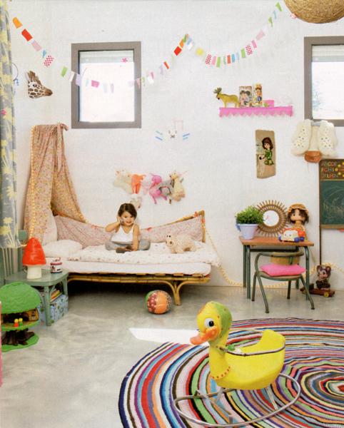 Habitación ecléctica para niños