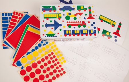 Cajas de gomets para niños de Apli