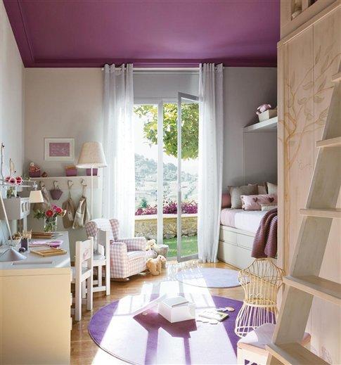 Preciosa Habitación infantil en Malva y Piedra