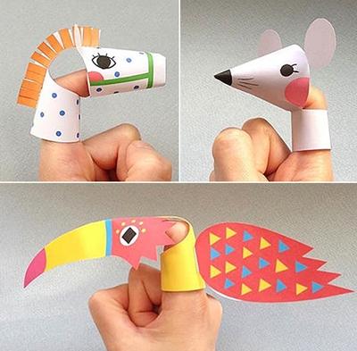 Marionetas de dedo para imprimir gratis
