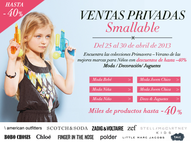 Ventas Privadas en Smallable (…hasta 40% dto)