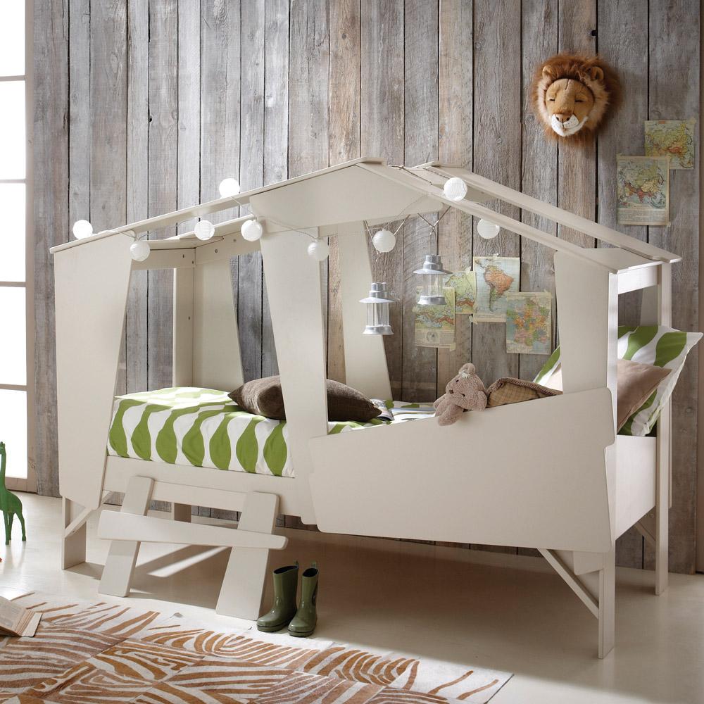 Una original cama-cabaña para niños