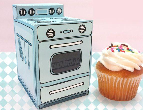 El packaging retro para cupcakes de Claudine Hellmuth es lo más