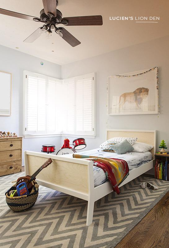 El dormitorio infantil de Lucien ¡Qué bonito!