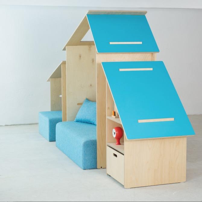Kinkelihut y Kinkelihouse, unos muebles infantiles muy escandinavos.