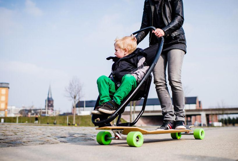 LongboardStroller. El skate de Quinny.
