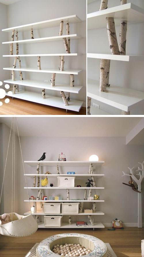 Llevar la naturaleza al interior- 8 formas de decorar la habitación infantil con una rama