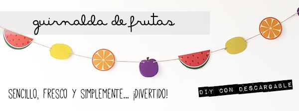Como hacer una de guirnalda infantil de frutas