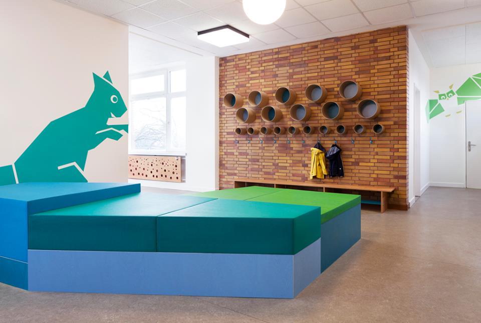 Espacios Cool para Niños… Una guardería animada con animales