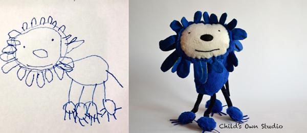 Wendy Tsao convierte los dibujos de los peques en encantadores peluches