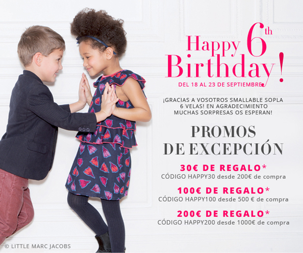 6º aniversario de Smallable: ¡sorteos, promociones y regalos para todos!