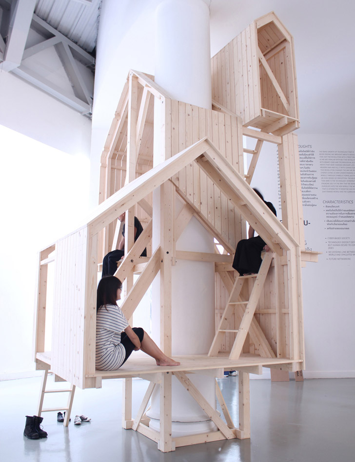 Arte o una casa del árbol para volver a la infancia