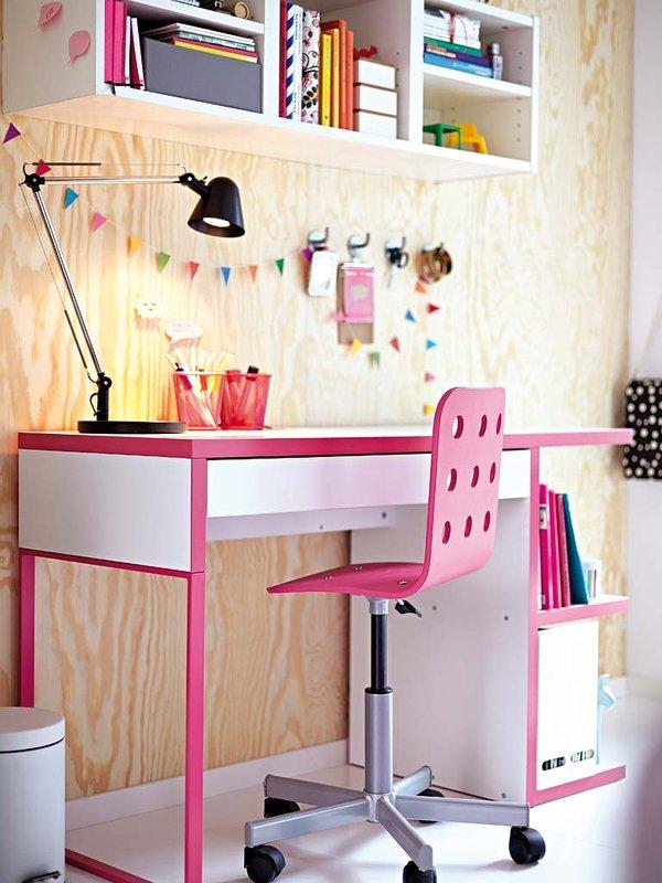 Silla Escritorio Juvenil Ikea.Escritorios Infantiles Con La Mesa Micke De Ikea Decopeques