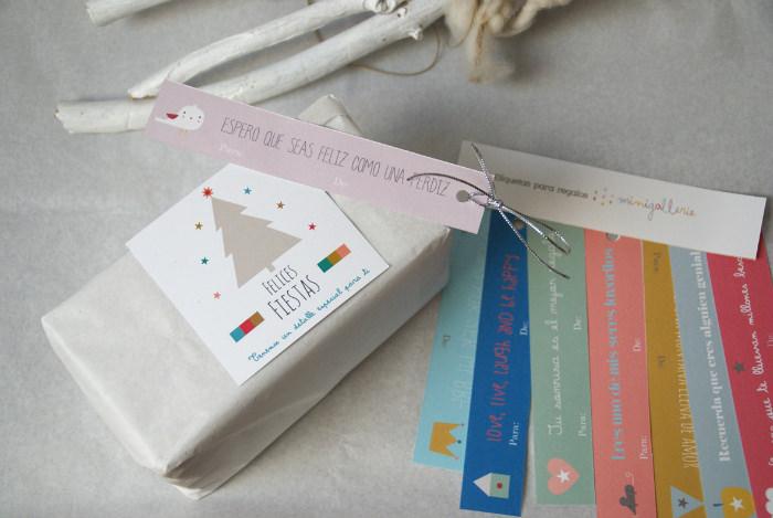 Etiquetas gratis para tus regalos. Descarga e imprime.