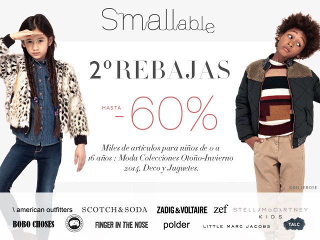Segundas rebajas hasta el 60% en Smallable