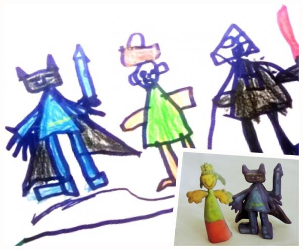 Figuras en 3D diseñadas por tus hijos