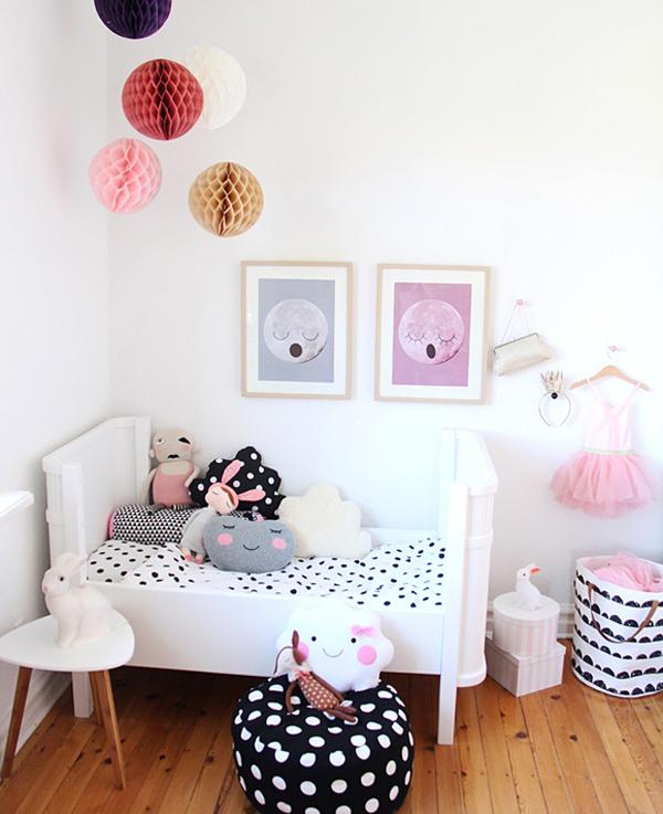 Una habitación nórdica muy dulce y divertida
