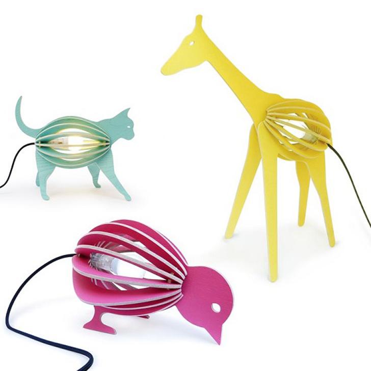 Un auténtico zoo en lámparas infantiles